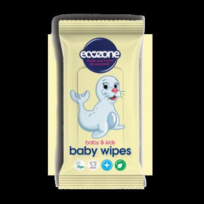Ecozone Baby & Kids illatanyagmentes baba törlőkendő 55 db
