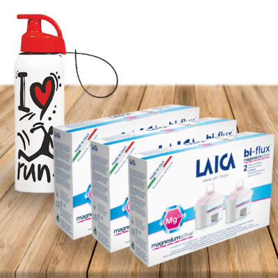 LAICA bi-flux 4+2 MAGNÉZIUM active szűrőbetét AJÁNDÉK sportkulaccsal