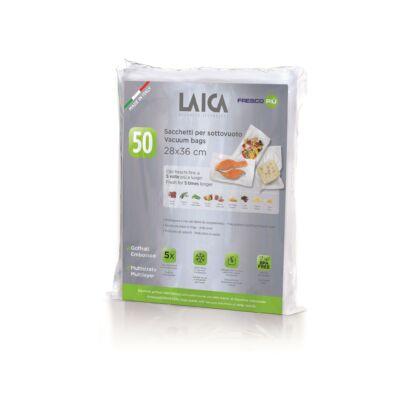 LAICA BPA mentes vákuum zacskó (50db légcsatornás, EXTRA erős 28*36cm-es vákuumtasak vákuumcsomagoláshoz)
