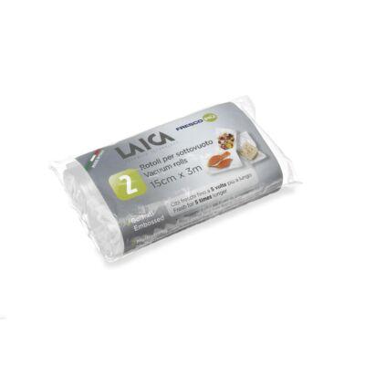 LAICA BPA mentes vákuumfólia tömlő (2db légcsatornás, EXTRA erős 15x300cm-es vákuumcsomagoló tekercs)