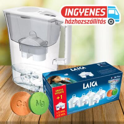 LAICA Prime Line Ivory vízszűrő kancsó 1db univerzális + 6 db mineral balance szűrőbetéttel INGYENES SZÁLLÍTÁSSAL