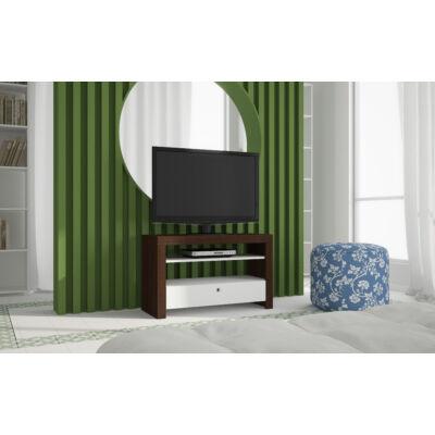 Matao fiókos TV szekrény (sötétbarna / fehér)