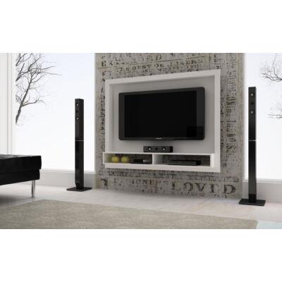 Vista polcos TV panel kerettel (fehér)