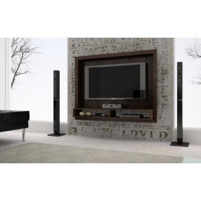 Vista polcos TV panel kerettel (sötétbarna)
