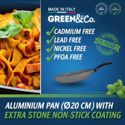 Green&Co. Extra Stone serpenyő több méretben