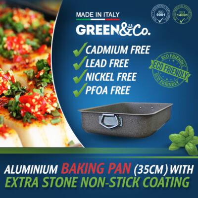 Green&Co. Extra Stone mély tepsi 35cm