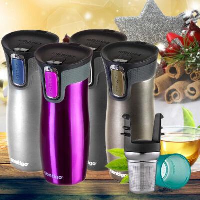 Contigo West Loop termosz 470 ml + ajándék teaszűrő