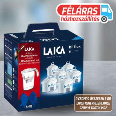 LAICA vízszűrő ajándékszett: Stream Line vízszűrő kancsó 6 db mineral balance bi-flux szűrőbetéttel