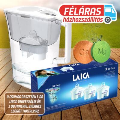 LAICA Prime Line Elegance Ivory vízszűrő kancsó 1db univerzális + 3 db mineral balance szűrőbetéttel