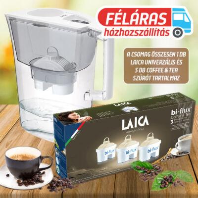 LAICA Prime Line Elegance Ivory vízszűrő kancsó 1db univerzális + 3 db Coffee & Tea szűrőbetéttel