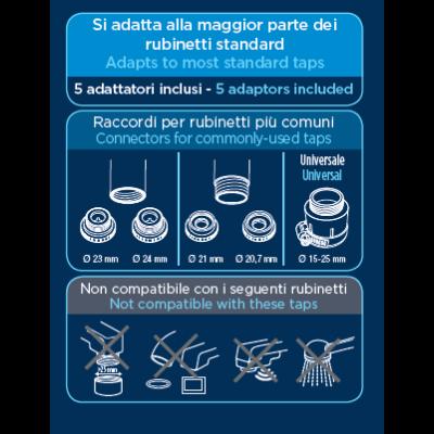 Laica VENEZIA csapra szerelhető Mikroplasztik-STOP vízszűrő + ajándék LAICA fém palack 0,5 liter
