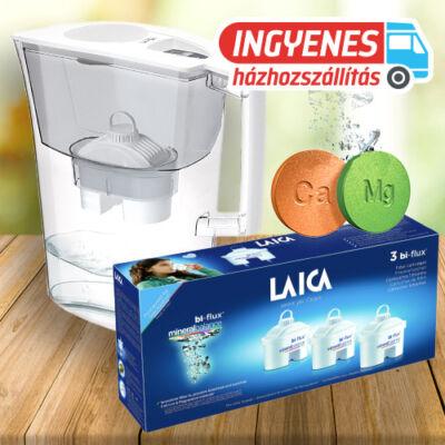 LAICA Prime Line Ivory vízszűrő kancsó 1db univerzális + 3 db mineral balance szűrőbetéttel INGYENES SZÁLLÍTÁSSAL