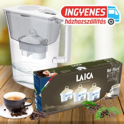 LAICA Prime Line Ivory vízszűrő kancsó 1db univerzális + 3 db Coffee & Tea szűrőbetéttel INGYENES SZÁLLÍTÁSSAL