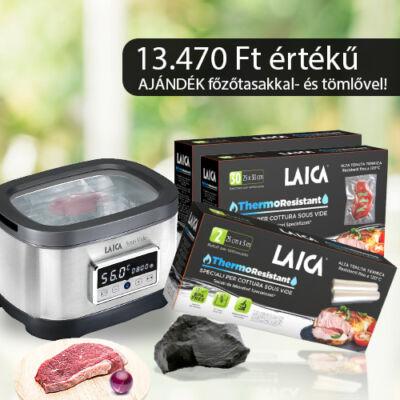 LAICA 8L-es sous vide medencés főző 700w 13.470 Ft értékű ajándék főzőtasakkal és tömlővel