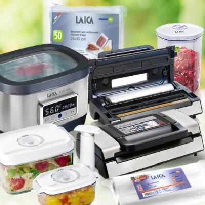 "LAICA ""Ultimate Plus"" sous vide csomag (VT31200+SVC200+VT33040+VT33020+VT35100+VT35090) várható szállítás: 03.11"