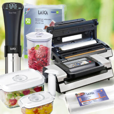 """LAICA """"Ultimate"""" sous vide csomag (VT31200+SVC100+VT33040+VT33020+VT35100+VT35090) várható szállítás: 03.11"""