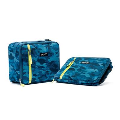 """PACKIT 4,5L """"minihűtő"""" classic uzsonnás táska kék mintás"""