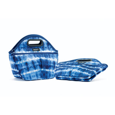 """PACKIT 5L """"minihűtő"""" utazó uzsonnás táska kék mintás"""