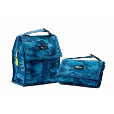 """PACKIT 4,4L """"minihűtő"""" uzsonnás táska kék mintás"""