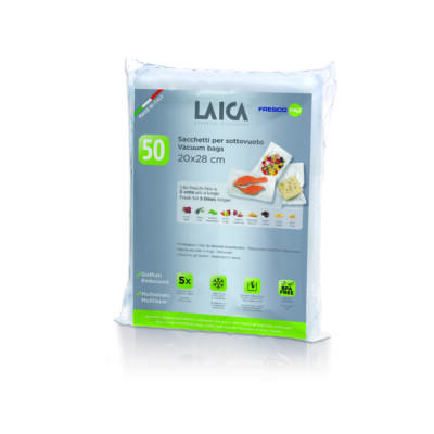 LAICA 50 db 20*28 cm BPA mentes légcsatornás vákuumcsomagoló tasak