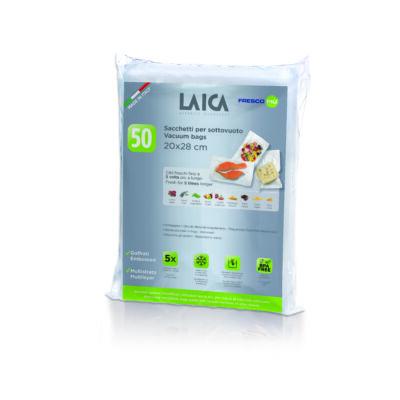 LAICA BPA mentes vákuum zacskó (50db légcsatornás, EXTRA erős 20*28cm-es vákuumtasak vákuumcsomagoláshoz)