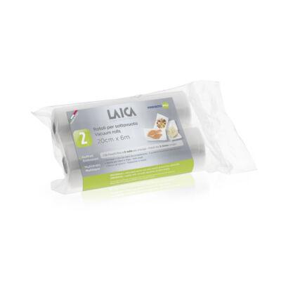 LAICA BPA mentes vákuumfólia tömlő (2db légcsatornás, EXTRA erős 20cm*600cm-es vákuumcsomagoló tekercs)